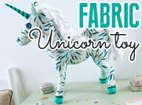 Fabric Unicorn Toy