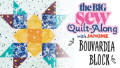 The Big Sew Quilt-Along - Bouvardia Block