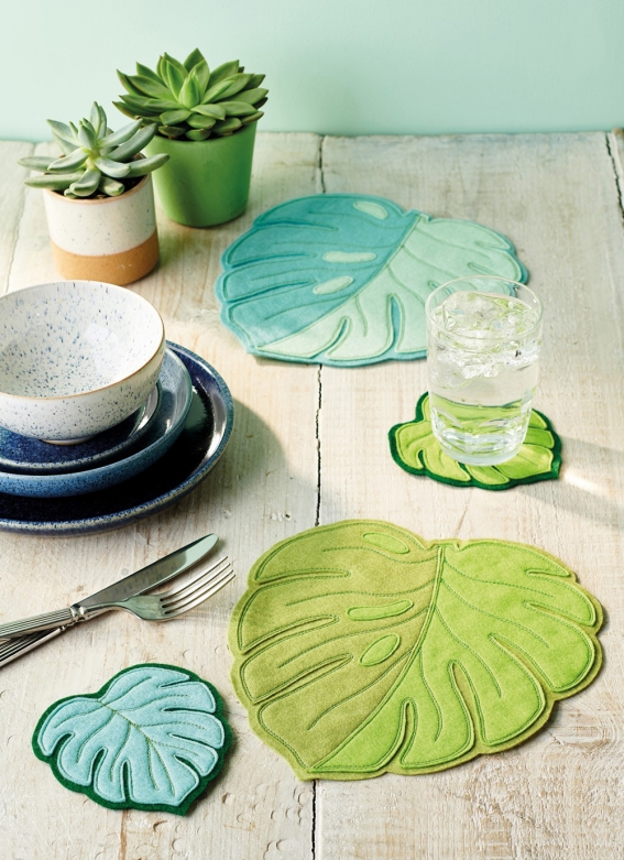 Sew 136 May 20 Leafy Table Set