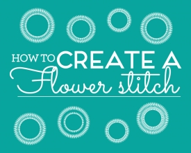 How to create a flower stitch