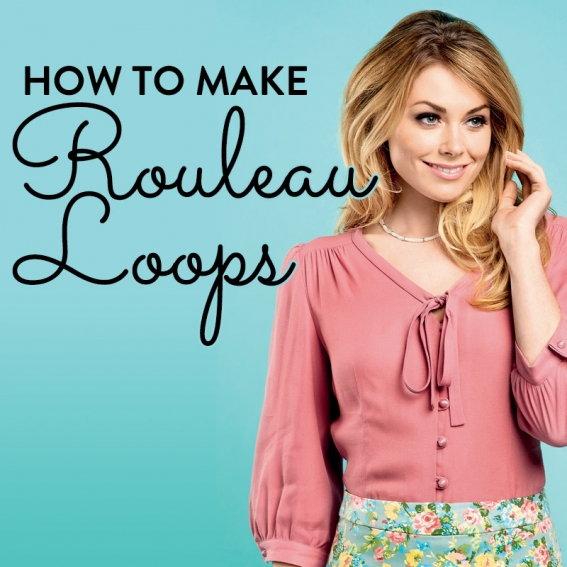 How to make rouleau loops
