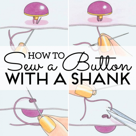 How to sew a button with a shank
