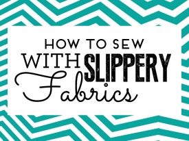 How to sew with slippery fabrics