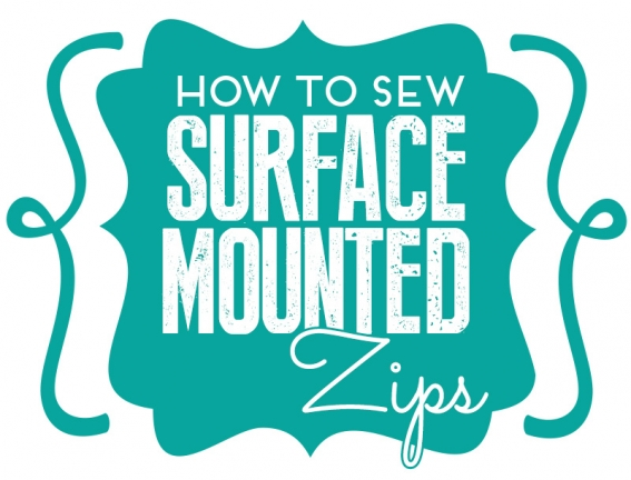 How to sew surface mounted zips