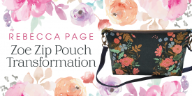 Turn A Zip Pouch into a Crossbody Bag