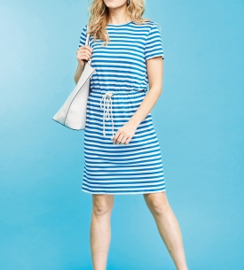 Nautical Rope-Belt Dress