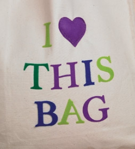 Die-Cut Applique Tote Bags