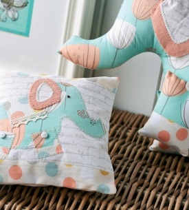 Art Gallery Fabric Elephant and Pillow