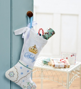 Baby's First Christmas Embroidered Stocking