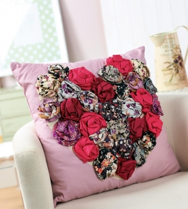 Flower Heart Cushion