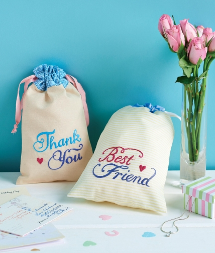 Vintage-themed Gift Drawstring Bags