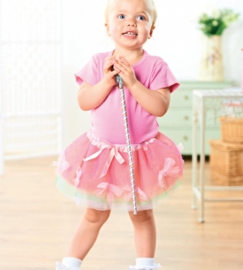 Girls Fairy Outfit with Jingle Bell Wand