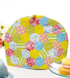 English Paper Pieced tea cosy