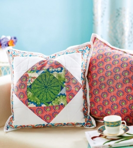 Matching cushion and quilt
