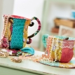 Fabric Storage Patchwork Teacups