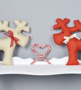 Heirloom reindeer toys