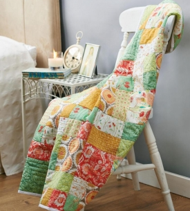 Chic patchwork throw