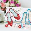 Shoe Bag and Shoe Embroidered Card