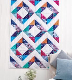 Half Square Triangle Block Quilt