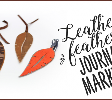 Watch our Leather Feather Journal Markers Video TODAY!