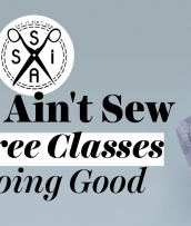 Say It Ain't Sew - How Free Classes Are Doing Good