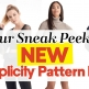 YOUR Sneak Peek of Simplicity's NEW Pattern Drop