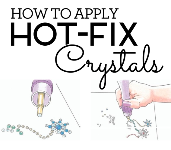 How to Apply hot fix crystals