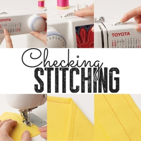 Checking stitching