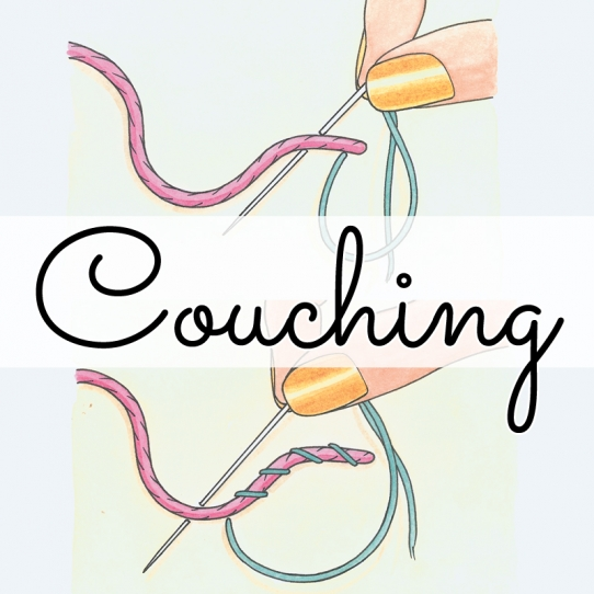 How to couch stitch