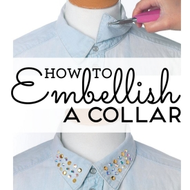 How to embellish a collar