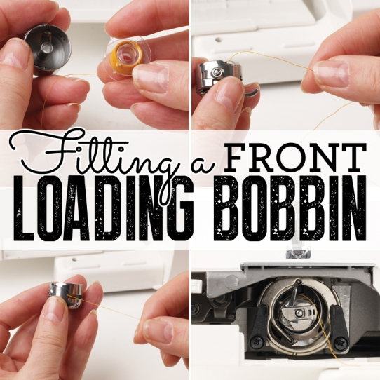 Fitting a front-loading bobbin