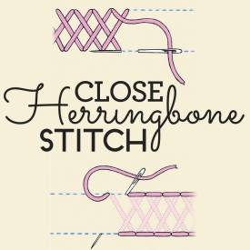 How to sew close herringbone stitch