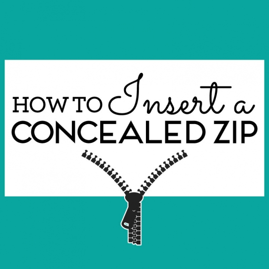 How to insert a concealed zip