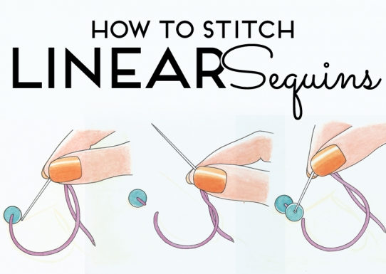 How to sew linear sequins