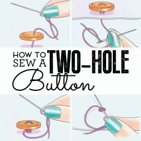 How to sew a two-hole button
