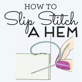 How to slip stitch a hem