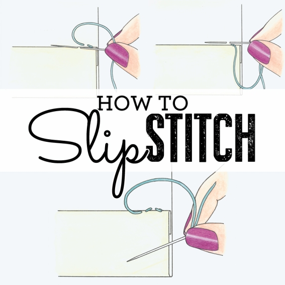 How to sew slip stitch