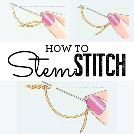 How to sew stem stitch