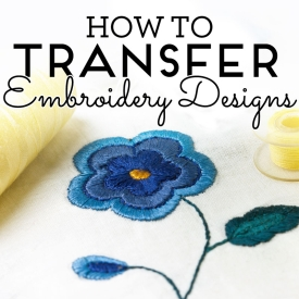 How to transfer embroidery designs