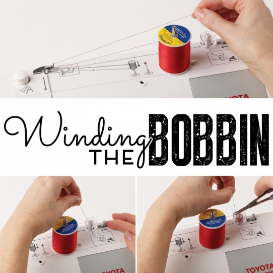 How to wind the bobbin