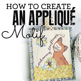 How to create an appliqué motif