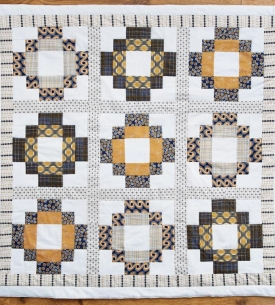 Antique tile quilt