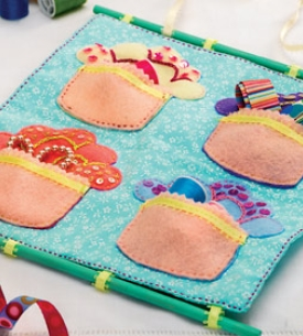 Applique Cupcake Wall Hanging