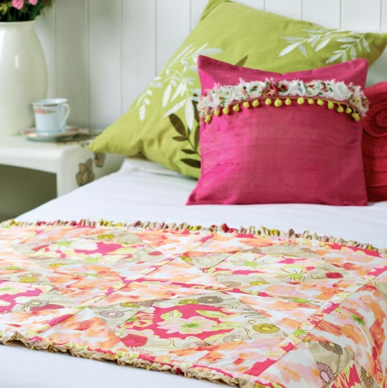 Art Gallery Fabric Quilted Bed Runner - Free sewing patterns - Sew ...
