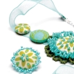 Beaded Fabric Jewellery Set