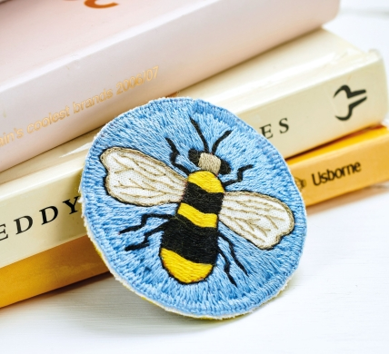 Embroidered Bee Badge
