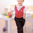Boy's Smart Bow Tie and Waistcoat Appliqued T-shirts