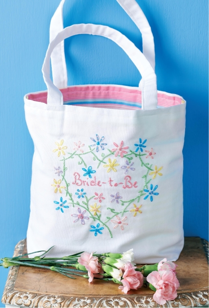 Embroidered Bride-To-Be Tote