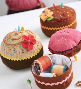Cake Themed Pincushions