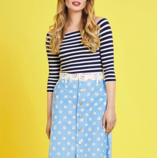 Floral Button-Up Skirt - Free sewing patterns - Sew Magazine